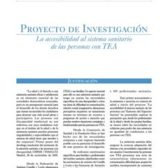 Proyecto de Investigación: Accesibilidad de las personas con TEA al Sistema Sanitario