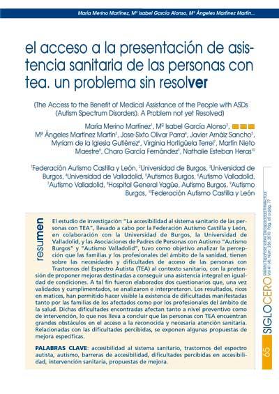 Revista Siglo Cero: Investigación Sanidad