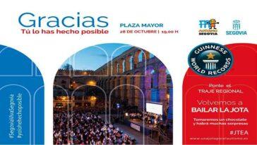 Segovia volvió a bailar, una jota por el autismo
