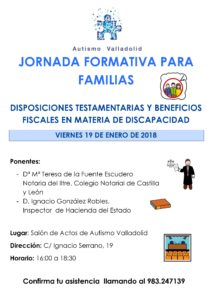 Jornada Formativa para Familias Autismo Valladolid