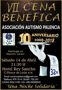 Cena 10 aniversario Autismo Palencia
