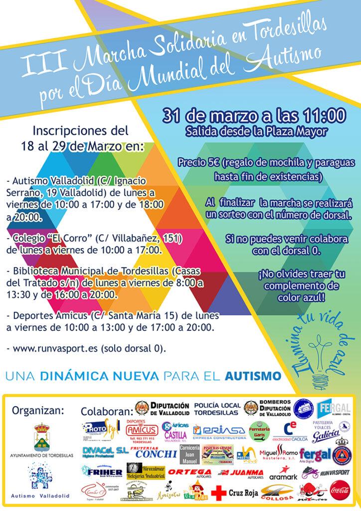3 Marcha Solidaria en Tordesilla por el Autismo, Autismo Valladolid. Actos en Castilla y León Día Mundial Autismo