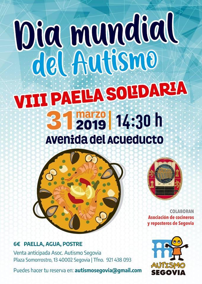 VIII Paella solidaria, acto en Segovia por el Día Mundial Autismo
