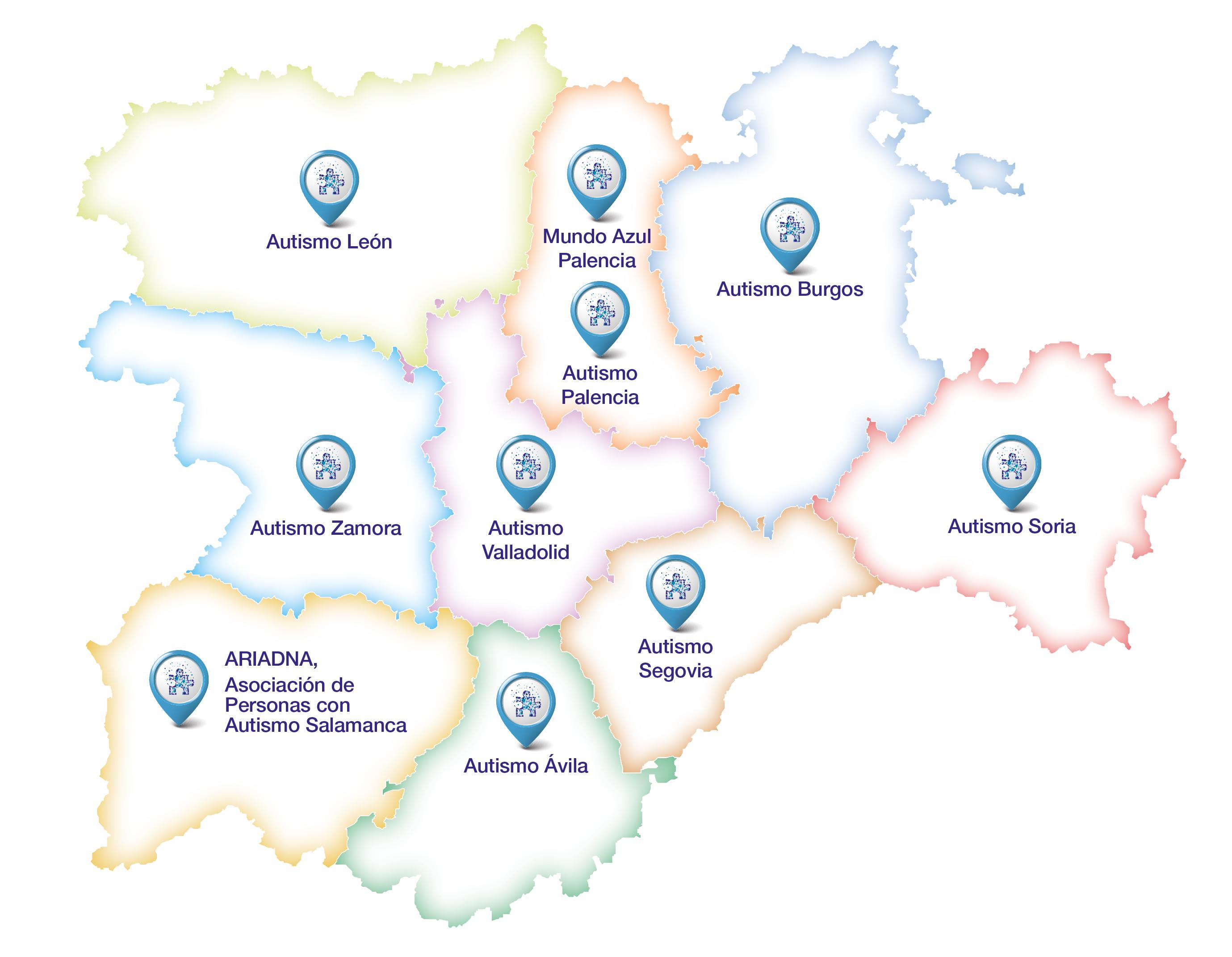 asociaciones Autismo Castilla y León