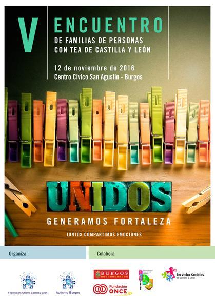Poster V Encuentro de Familias Autismo Castilla y León