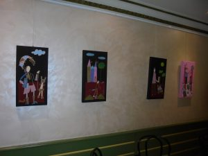 Exposición de cuadros de Autismo Burgos en Aranda de Duero