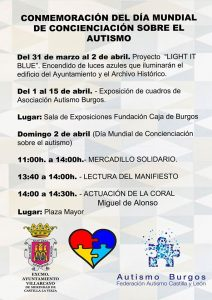 Actos en Villarcayo Burgos #DiaMundialAutismo