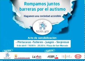 Acto de sesibilización Día Mundial Autismo en León