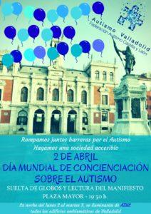Lectura de manifiesto y suelta de globos Día Mundial del Autismo en Valladolid