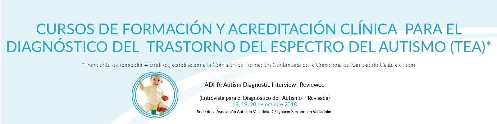Curso de formación ADI-R, diagnóstico autismo
