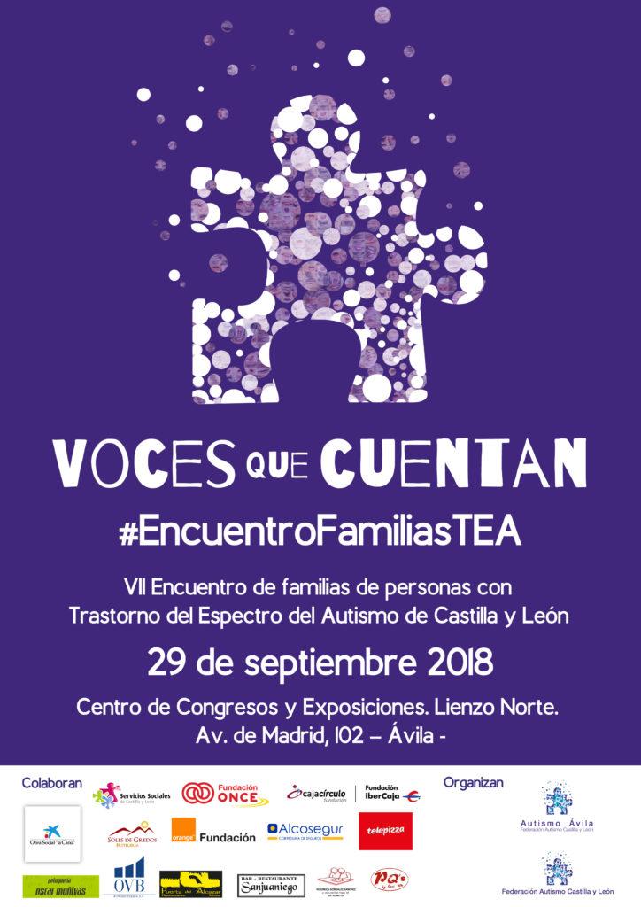 Poster informativo séptimo Encuentro de familias de personas con TEA