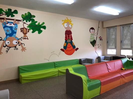 Sala de ocio y tiempo libre Autismo Valladolid