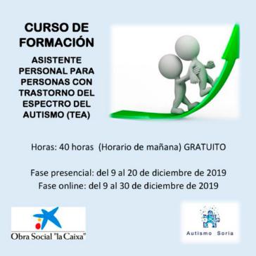 Formación Asistente Personal Autismo Soria