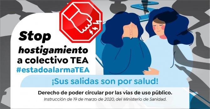 stop hostigamiento estado alarma tea