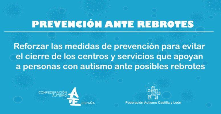 prevencion ante rebrotes autismo