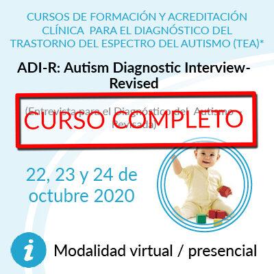 Formación en diagnóstico, curso ADI-R Curso completo