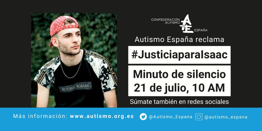 Minuto Silencio Isaac miercoles 21julio10am AutismoEspana_BlogTwitter