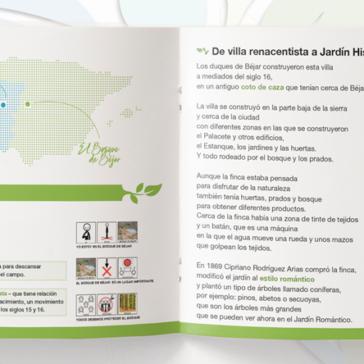 Guía Adaptada Jardines Históricos Transfronterizos. Bosque de Béjar – Mata de Bussaco dirigida a personas con dificultades para comprender los entornos.